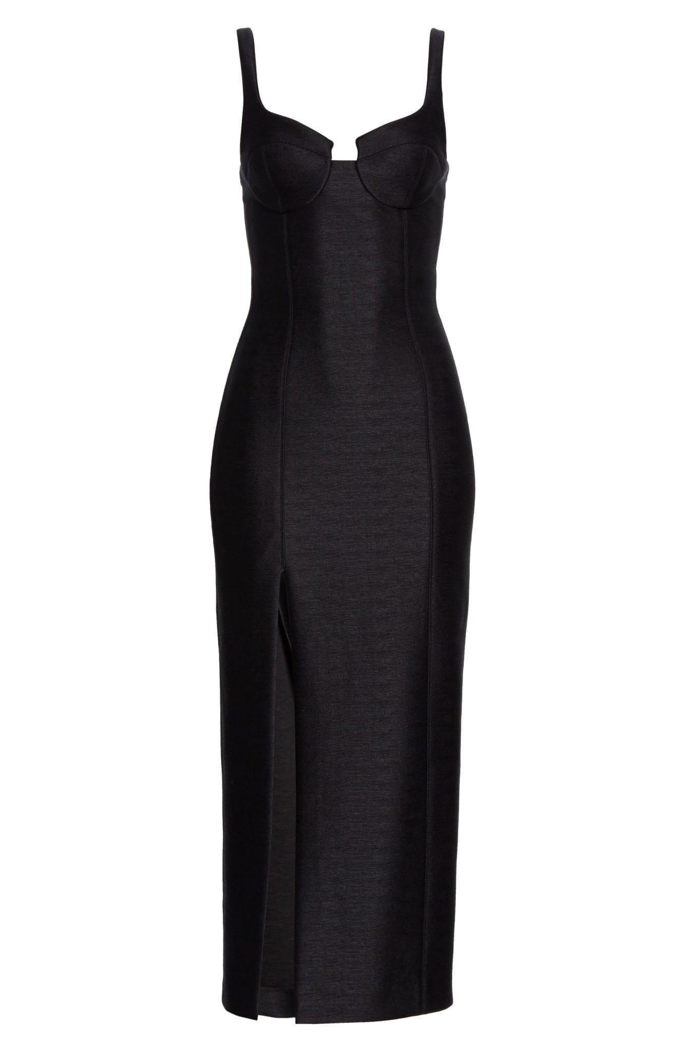 BRANDON MAXWELL Bustier Midi Column Dress