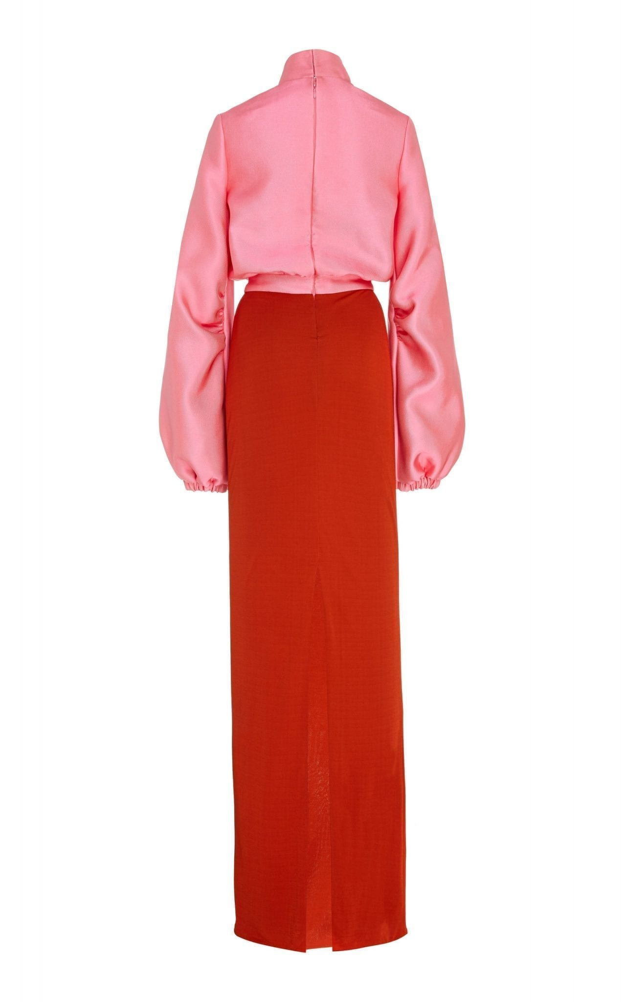 BRANDON MAXWELL Two-Tone Satin Gown