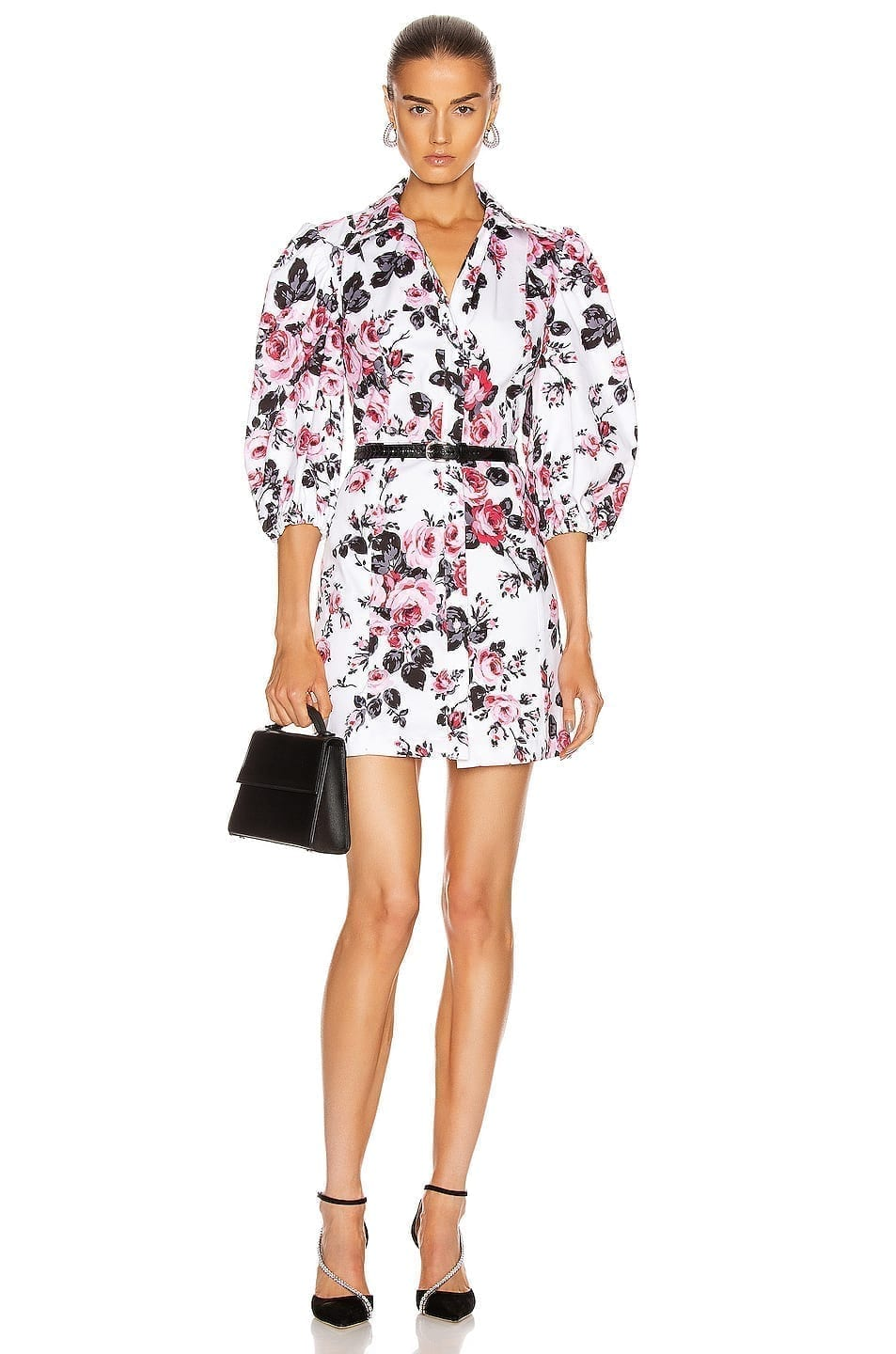 BROGNANO Floral Button Down Mini Dress