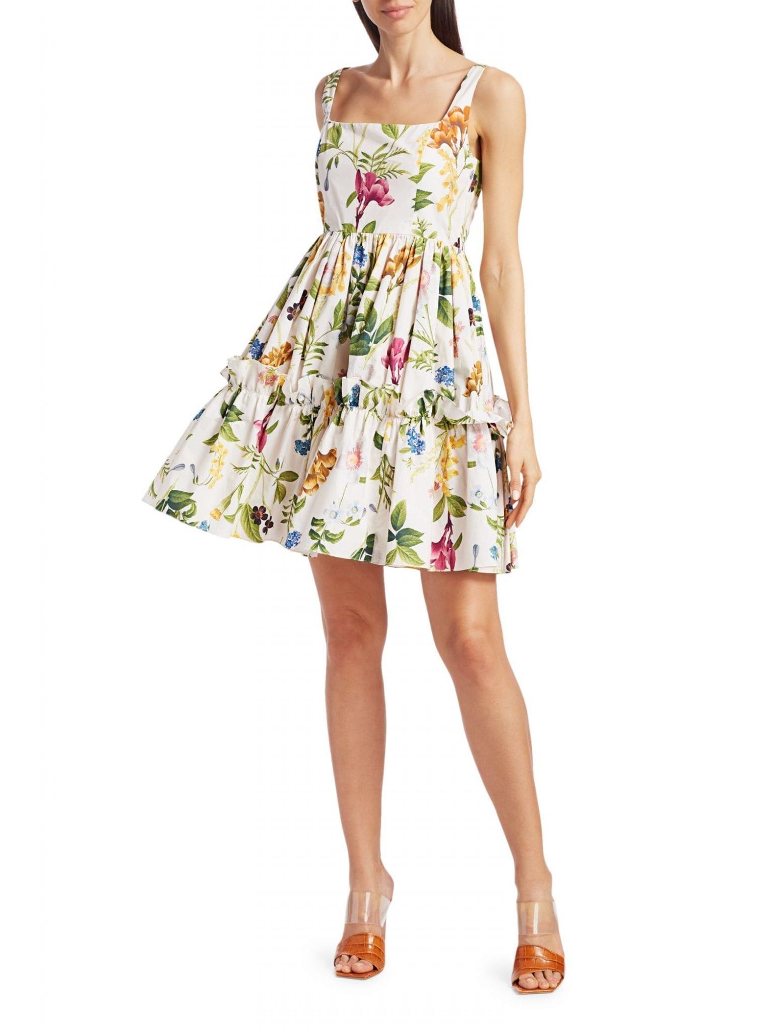 CARA CARA Sasha Floral Apron Flare Dress