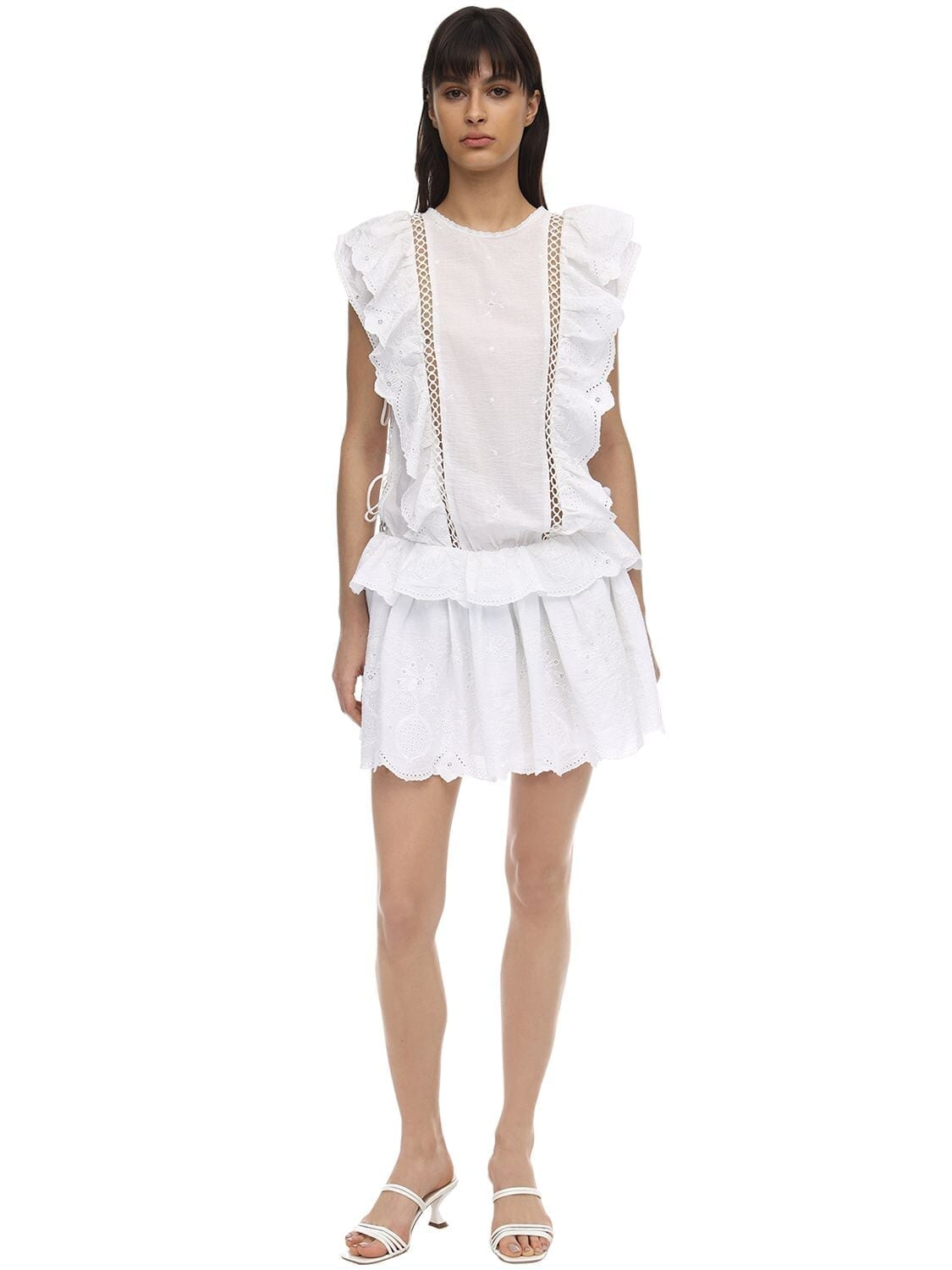 CC BY CAMILLA CAPPELLI Clotilde Embroidered Cotton Mini Dress