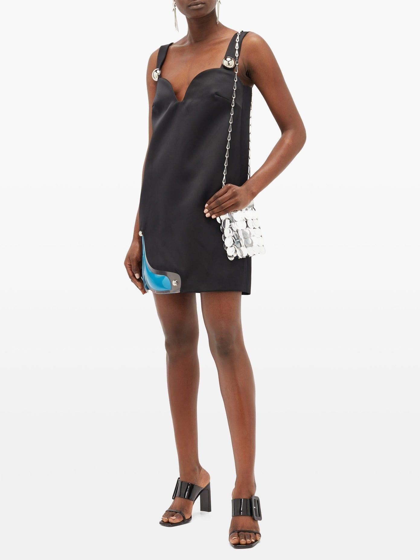 CHRISTOPHER KANE Gel-panel Satin Mini Dress