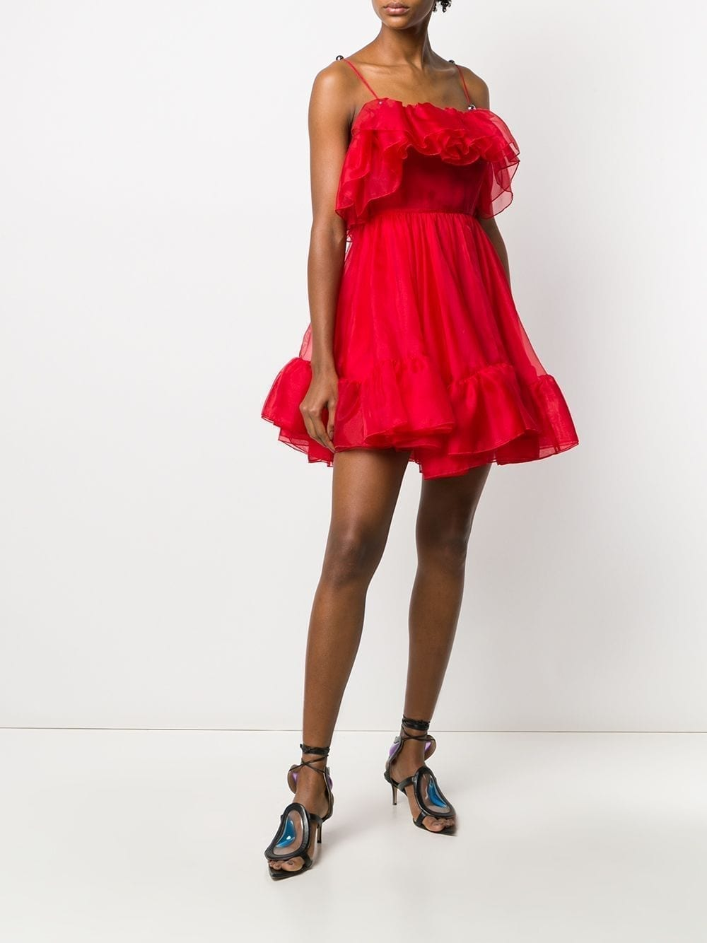 CHRISTOPHER KANE Organza Frill Mini Dress