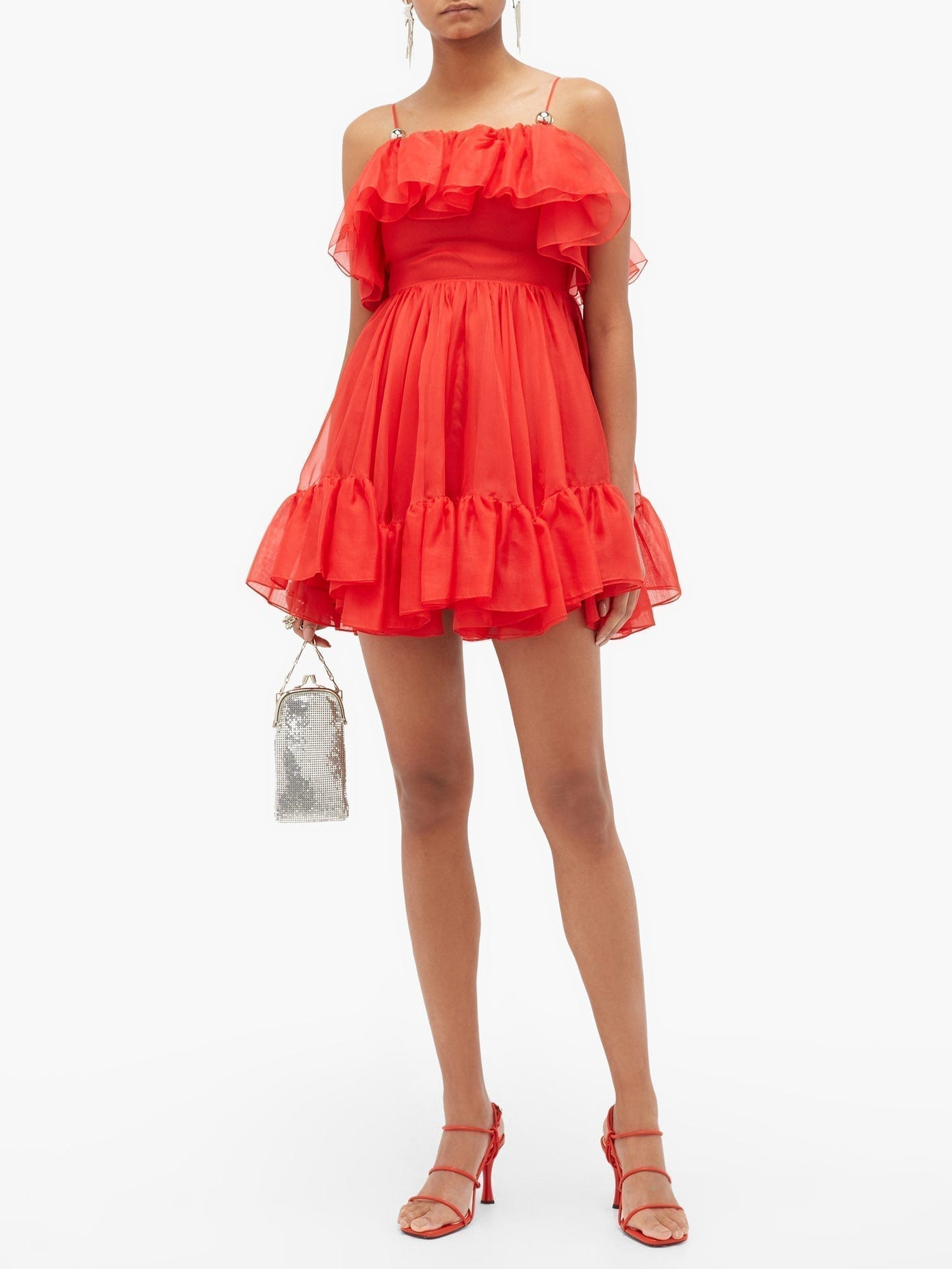 CHRISTOPHER KANE Ruffled Silk-organza Mini Dress