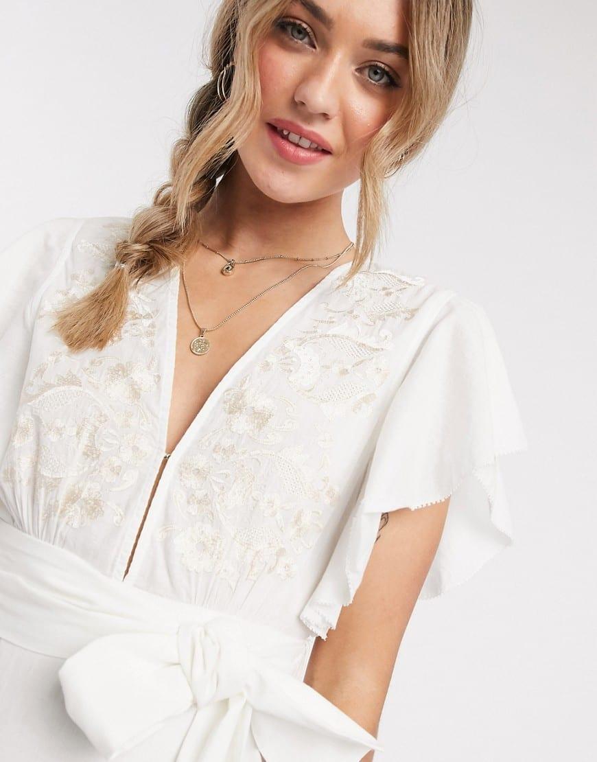 CLEOBELLA Tie Waist Seville Midi Dress