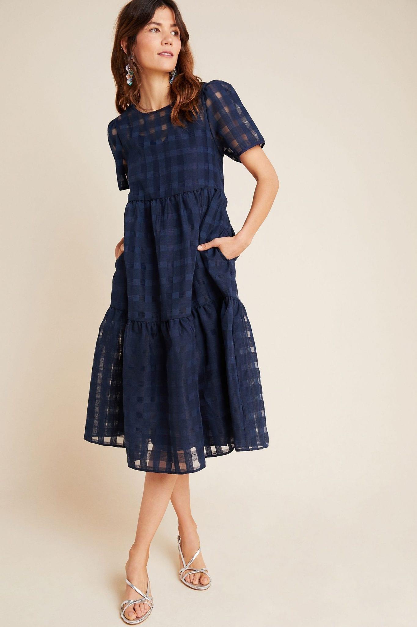 ERI + ALI Austen Tiered Midi Dress