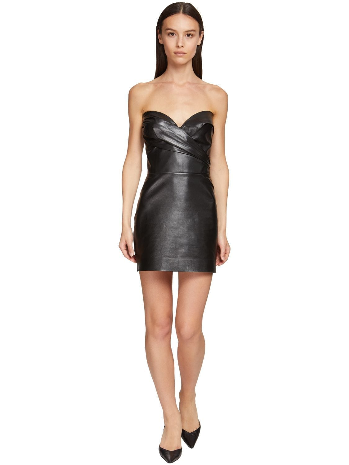 ERMANNO SCERVINO Leather Corset Dress