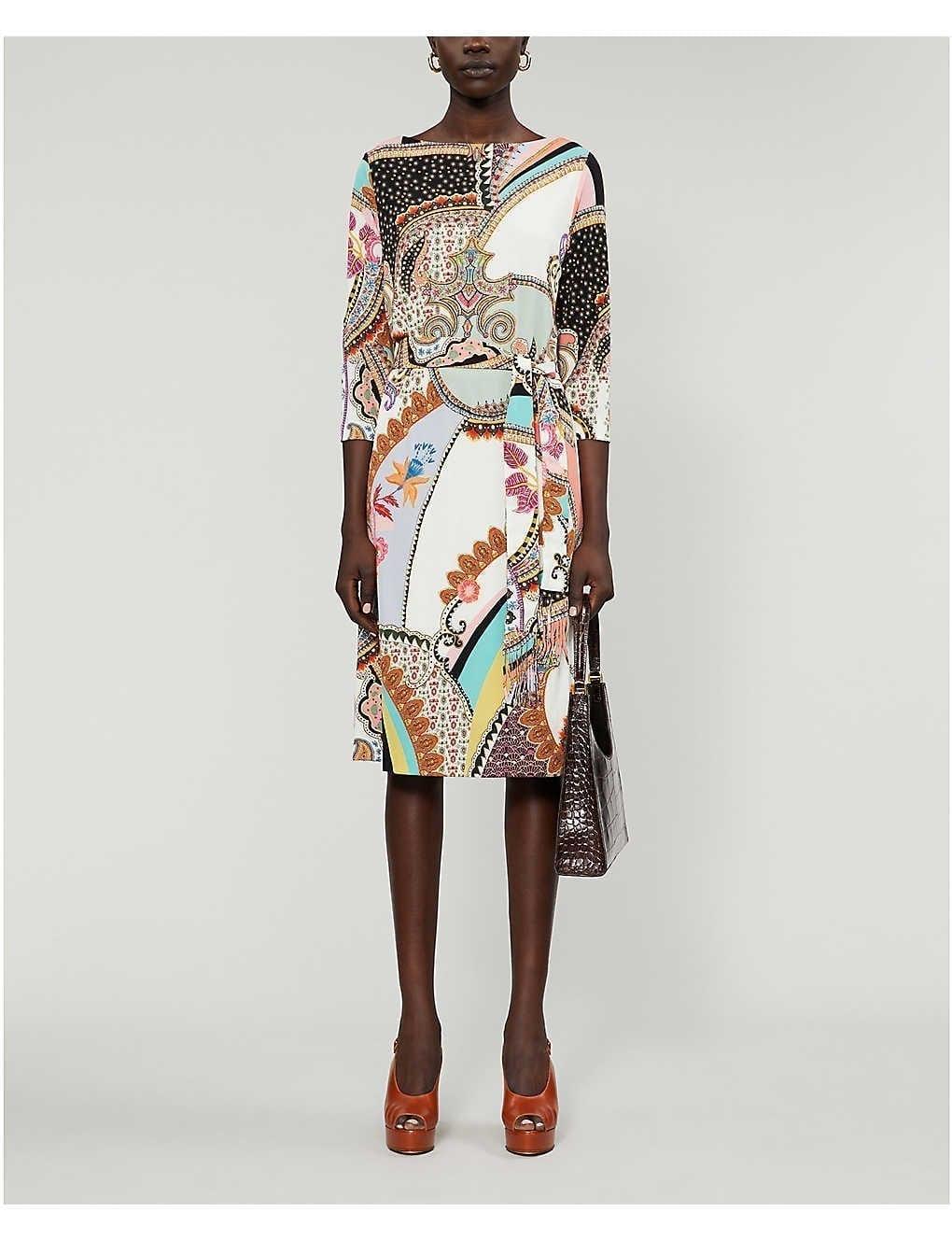ETRO Abito Milano Woven Midi Dress
