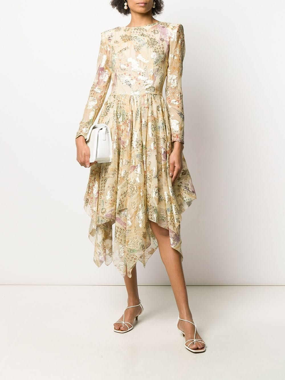 ETRO Floral-print Scoop-back Midi Dress