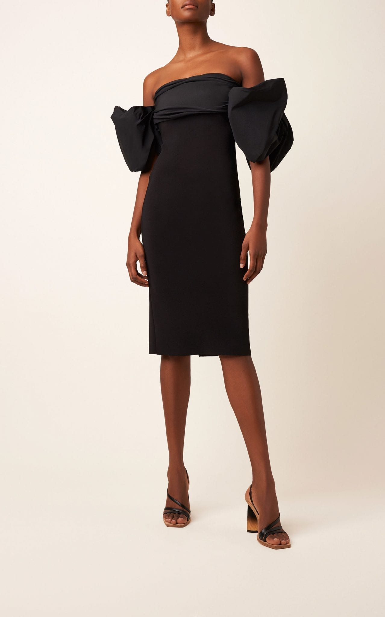 GIVENCHY Off-The-Shoulder Taffeta Dress