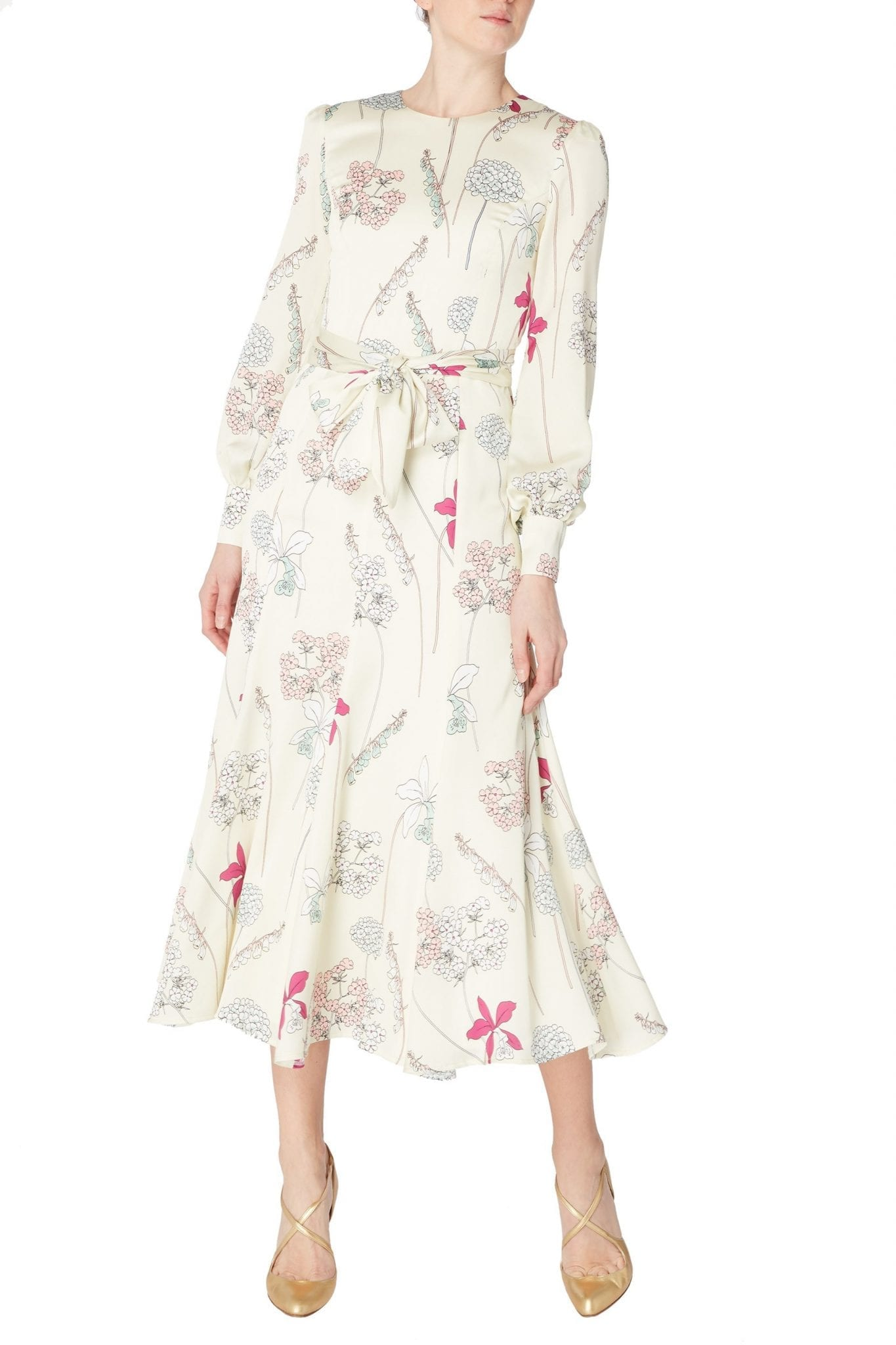 GOAT Jemima Foxglove Midi Dress