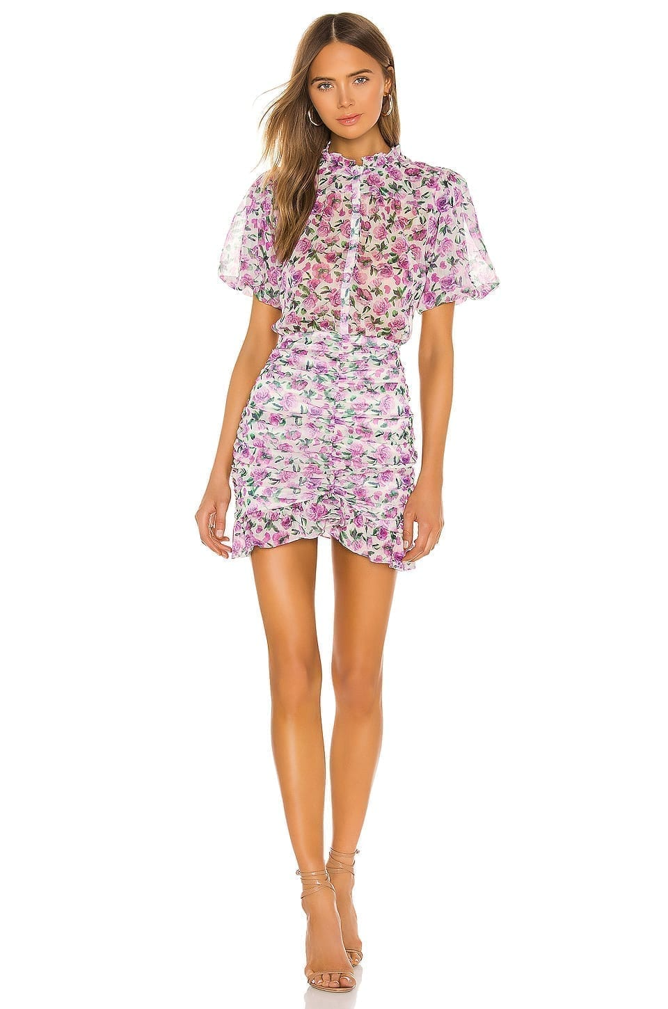 IORANE Floral Mini Dress