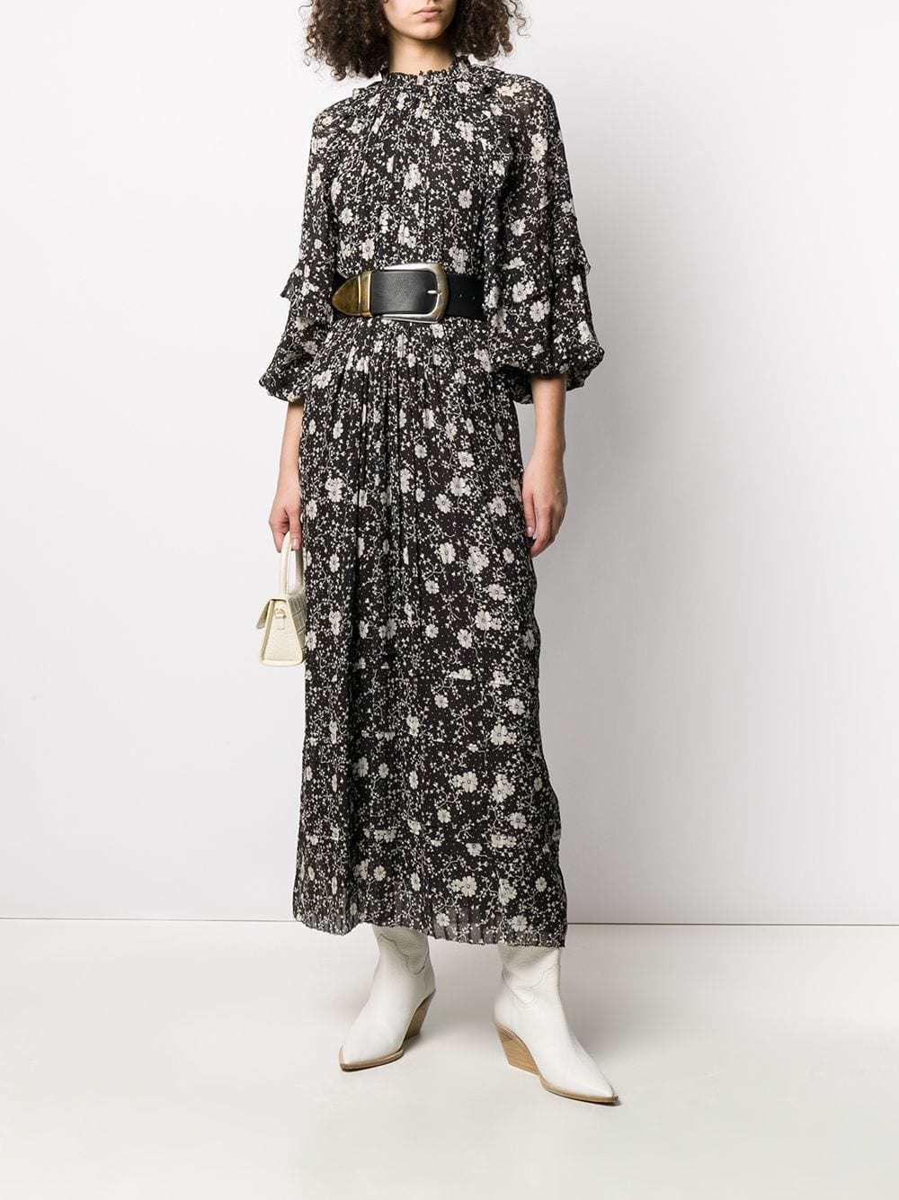 ISABEL MARANT ÉTOILE Estine Floral Print Long Dress