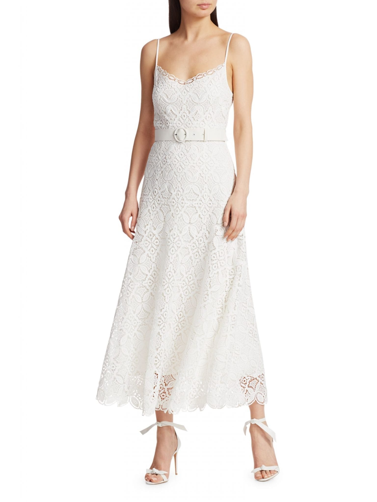 JONATHAN SIMKHAI Savannah Guipure Lace Dress