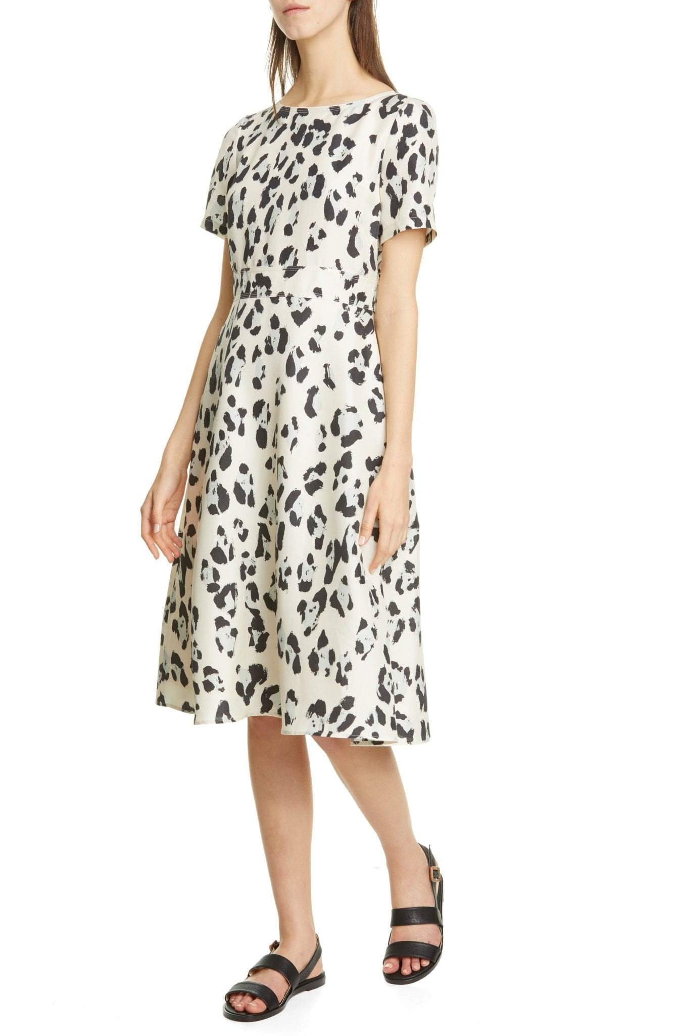 LAFAYETTE 148 NEW YORK Amanda Spot Print Silk Dress