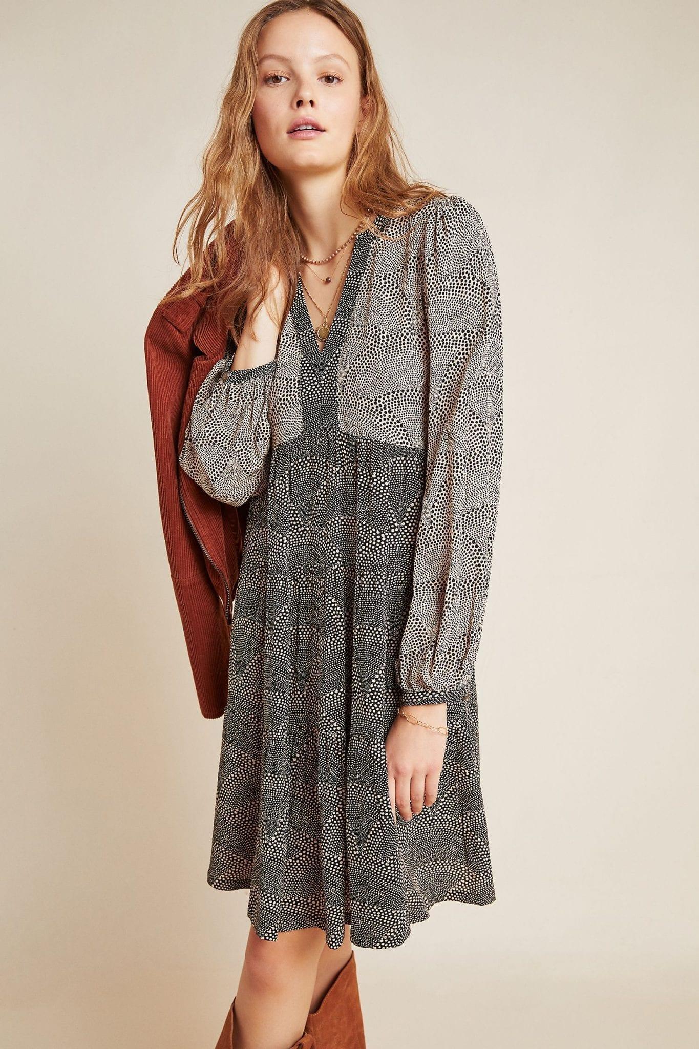 MAEVE Amber Tiered Tunic Dress