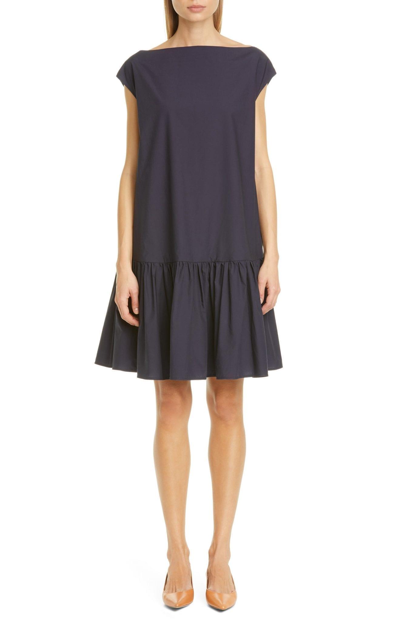 MANSUR GAVRIEL Ruched Cotton Poplin Dress
