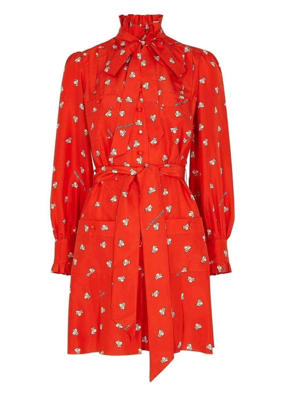 MARC JACOBS X Magda Archer Printed Silk Shirt Dress