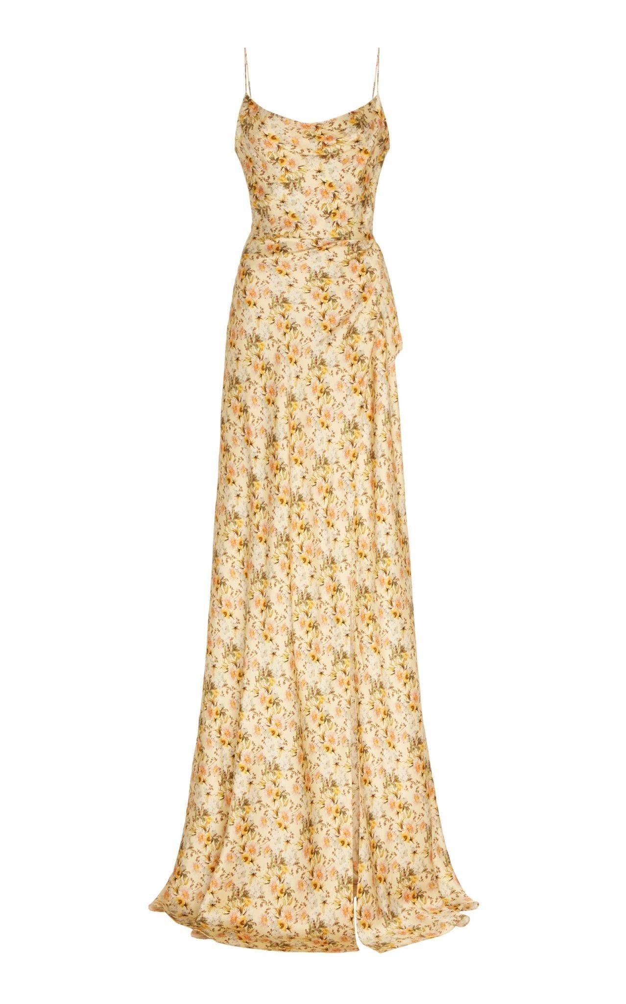 MARKARIAN Dashwood Floral-Print Silk-Satin Gown