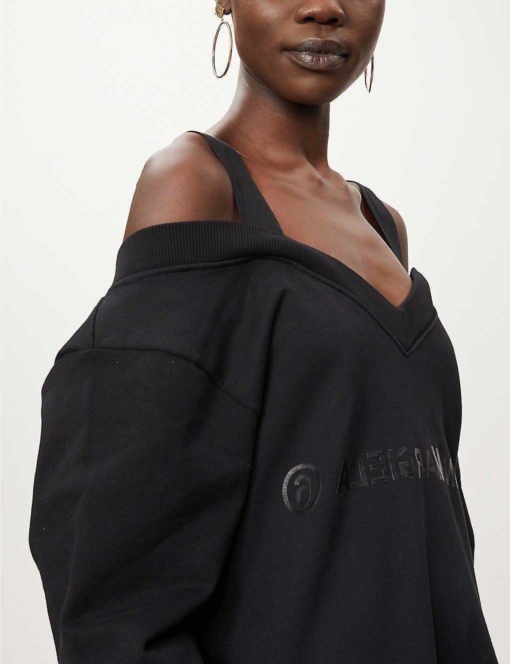 MM6 MAISON MARGIELA Mm6 Strapped Cotton Mini Dress