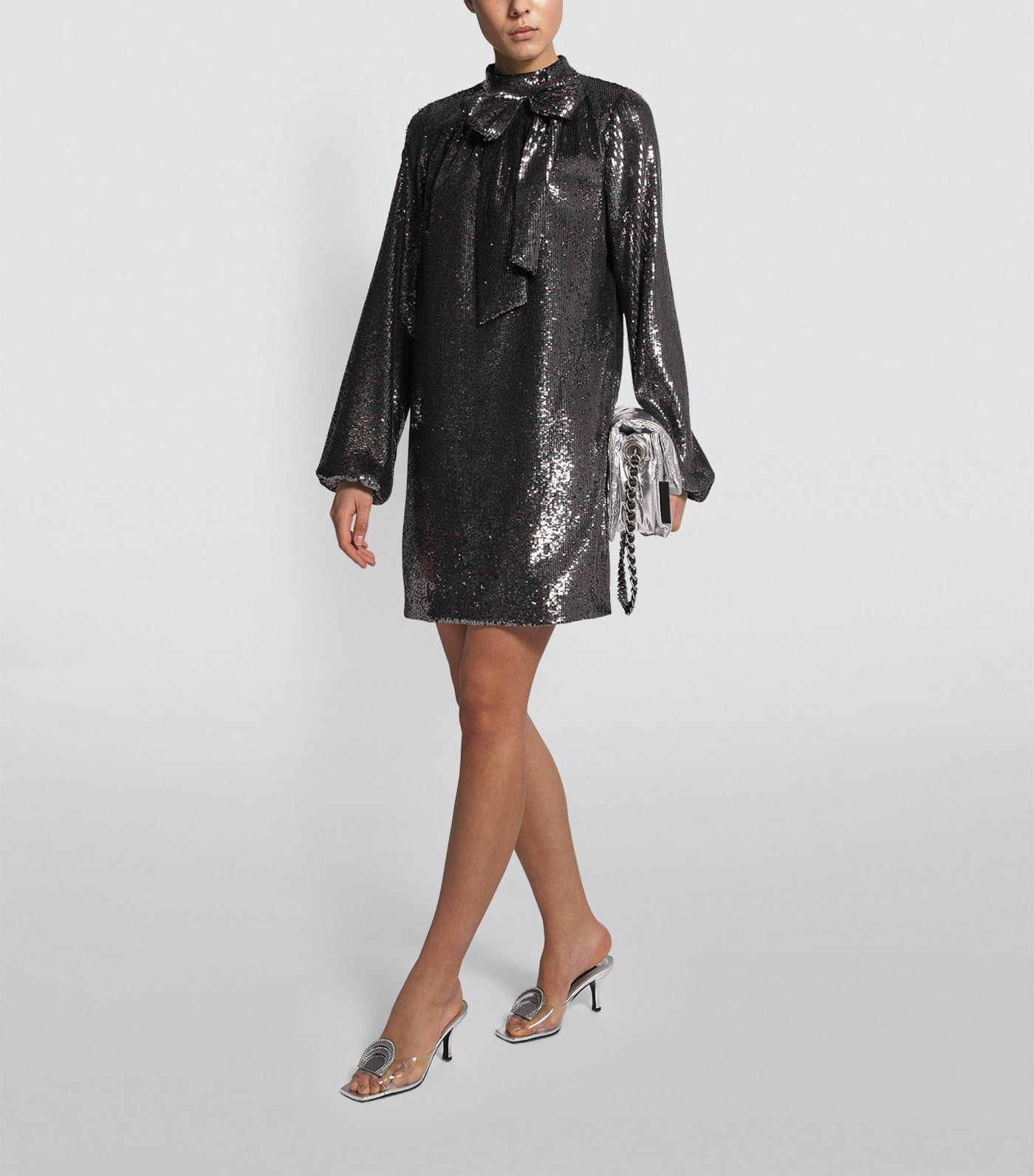 Nº21 Bow Detail Sequin Dress