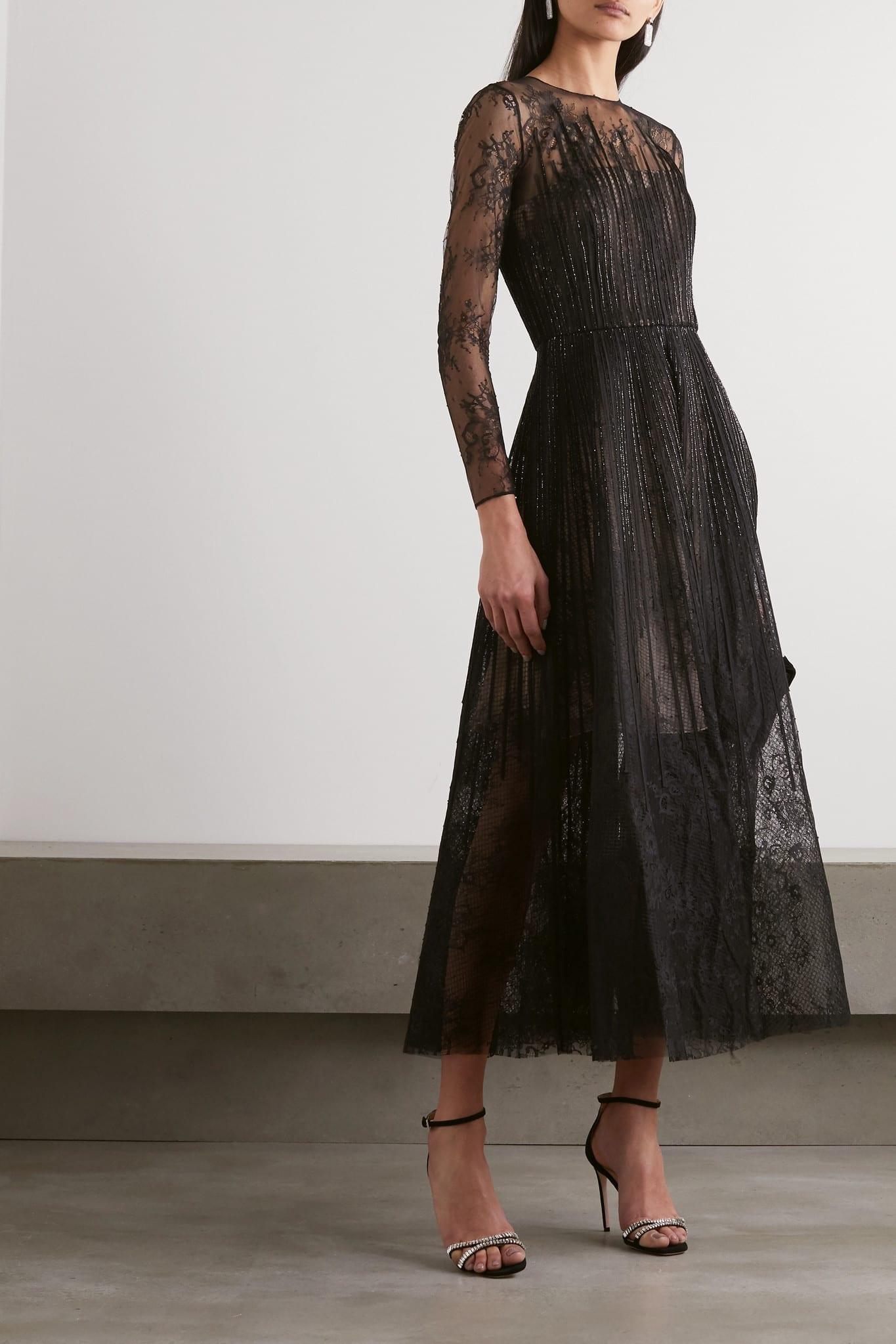 OSCAR DE LA RENTA Bead-embellished Lace And Organza Gown