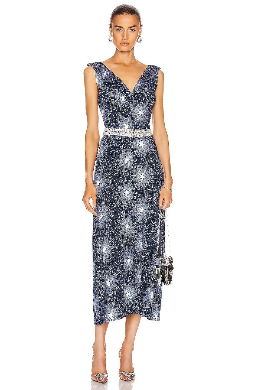 PACO RABANNE Printed Tank Dress