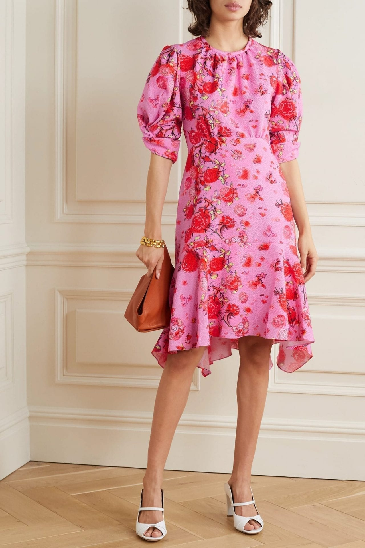 PETER PILOTTO Ruffled Floral-print Jacquard Dress