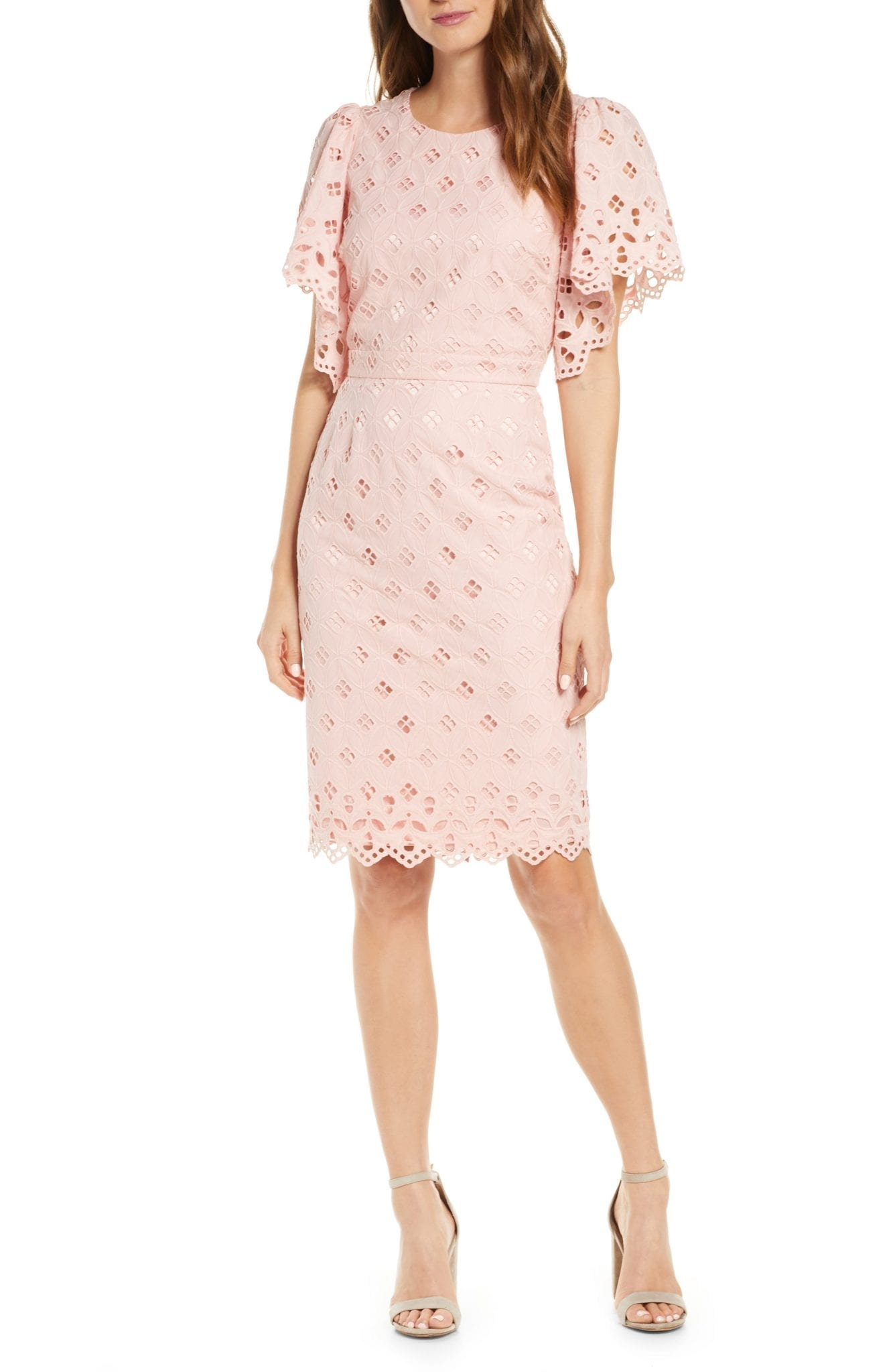 RACHEL PARCELL Eyelet Sheath Dress