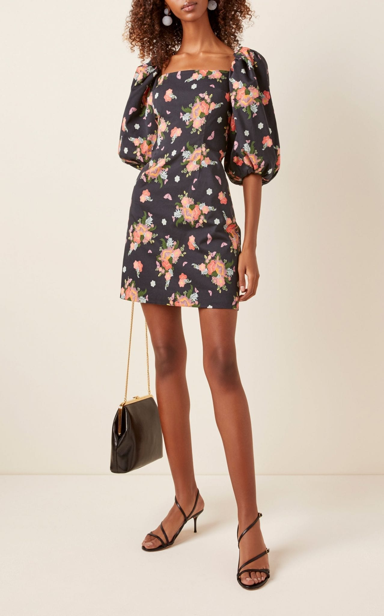 REBECCA DE RAVENEL First Impressions Floral-Print Stretch-Cotton Mini Dress