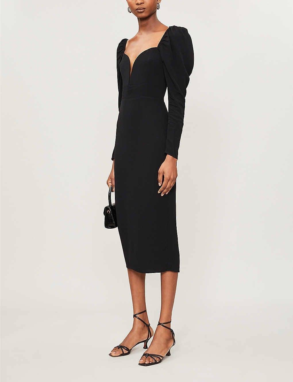 REFORMATION Sweetheart-neck Crepe Midi Dress