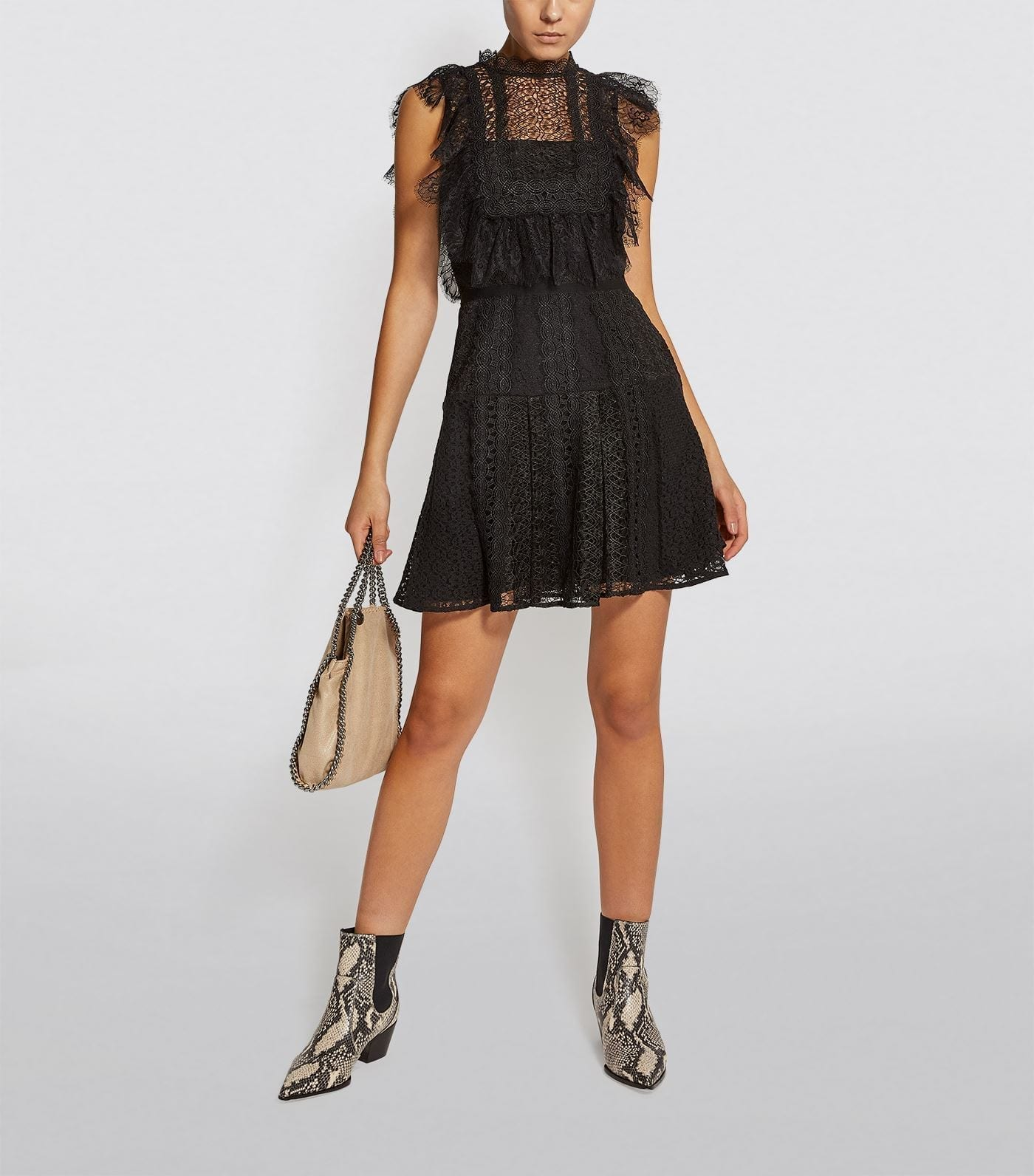 SELF PORTRAIT Lace Sleeveless Mini Dress