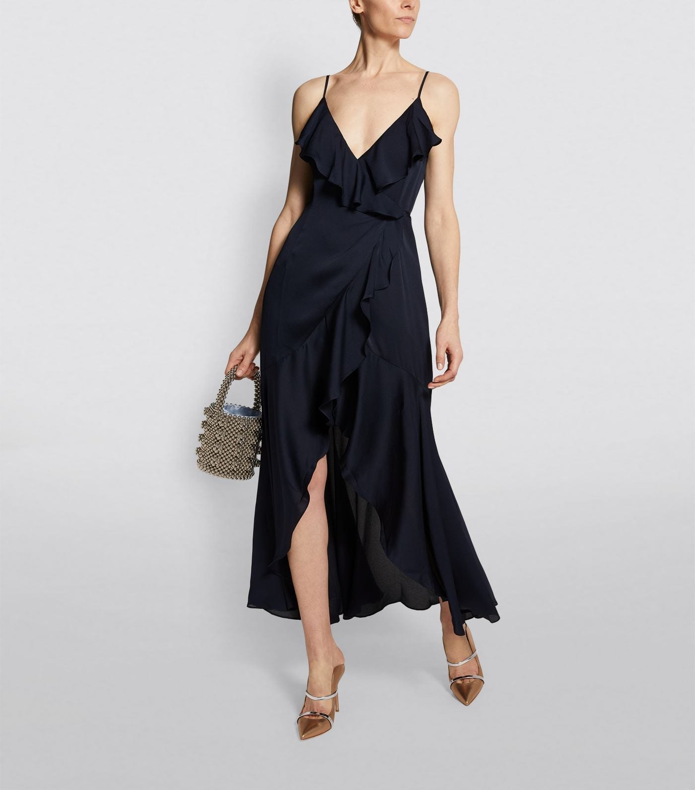 SHONA JOY Bias Frill Wrap Dress
