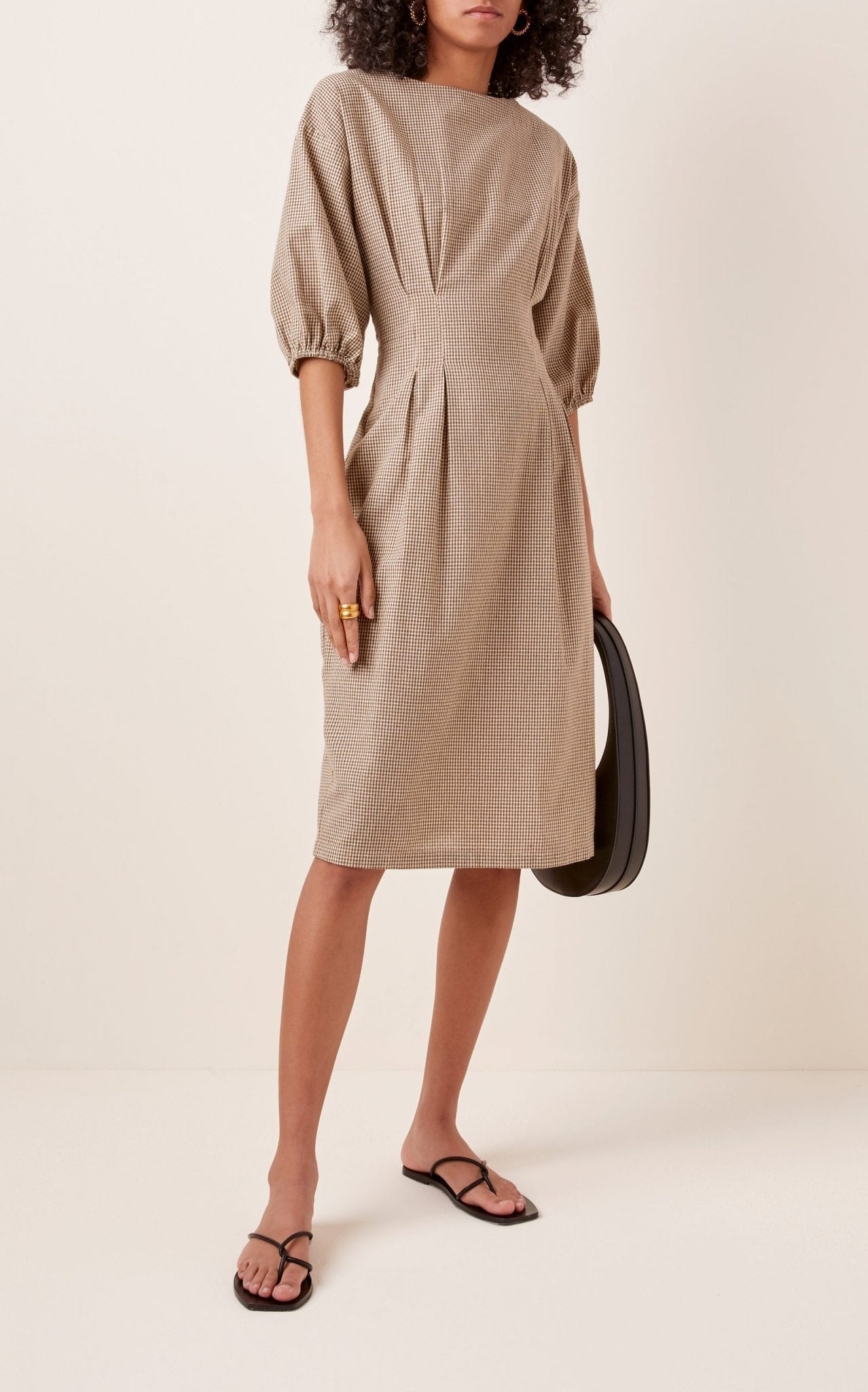 ST. AGNI Forme Cotton Knee-Length Dress