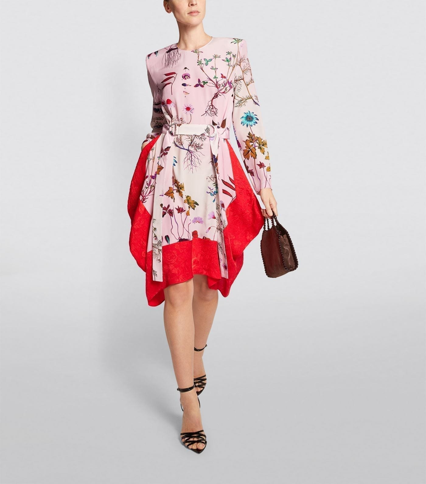 STELLA MCCARTNEY Kalyn Belted Silk Dress