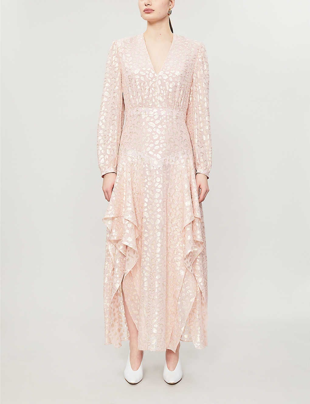 STELLA MCCARTNEY Katia Jacquard-print Metallic-silk Midi Dress
