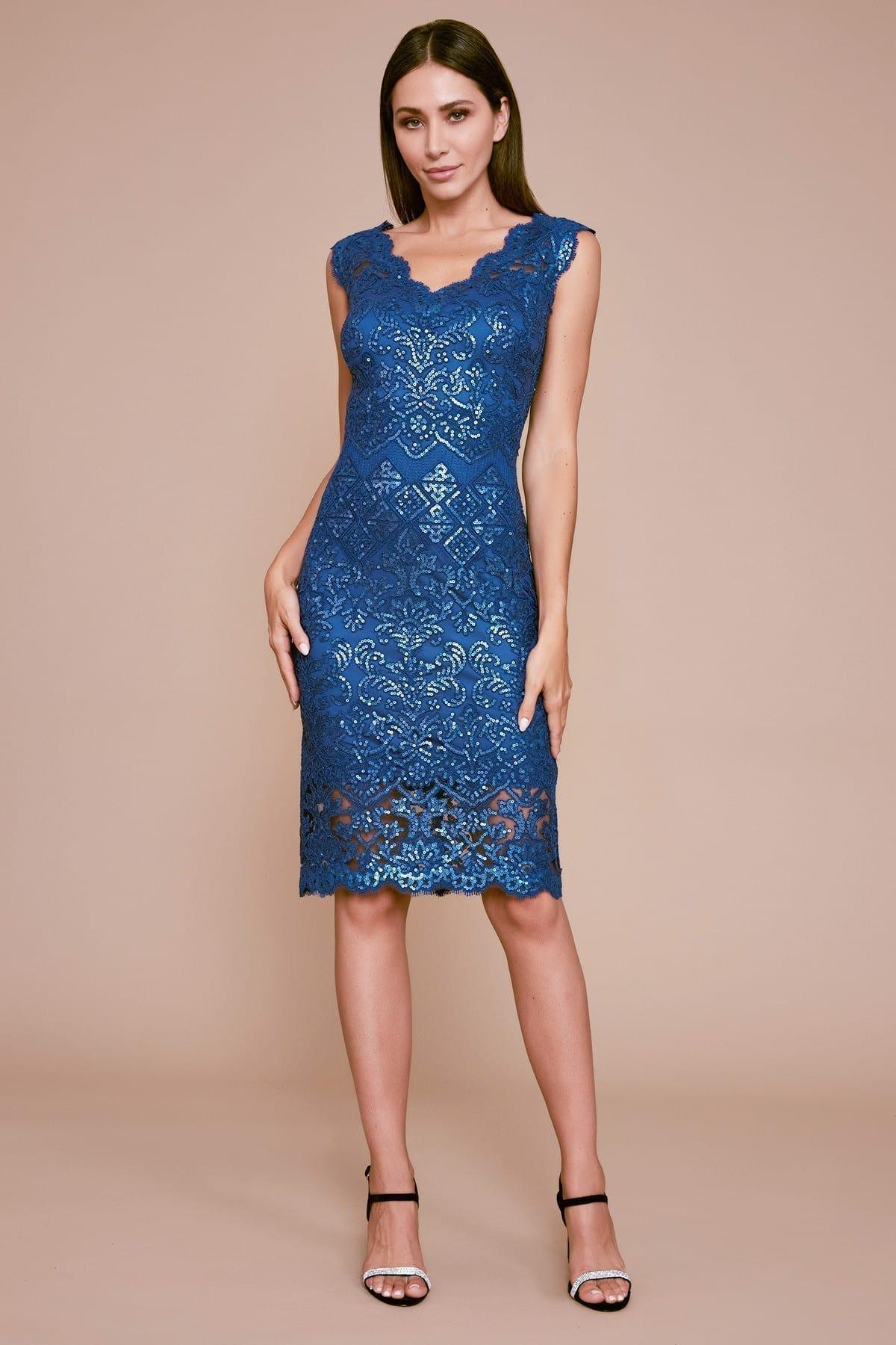 TADASHI SHOJI Ciarra Sleeveless Sequin Embroidered Dress