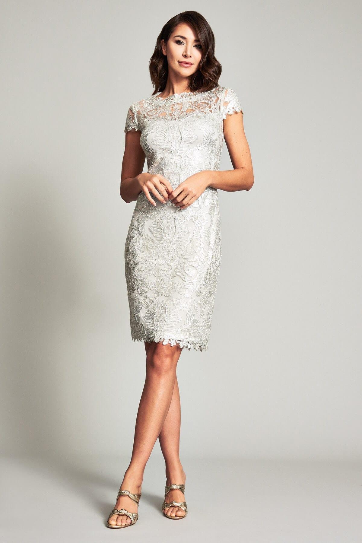 TADASHI SHOJI Clayton Corded Embroidery Dress