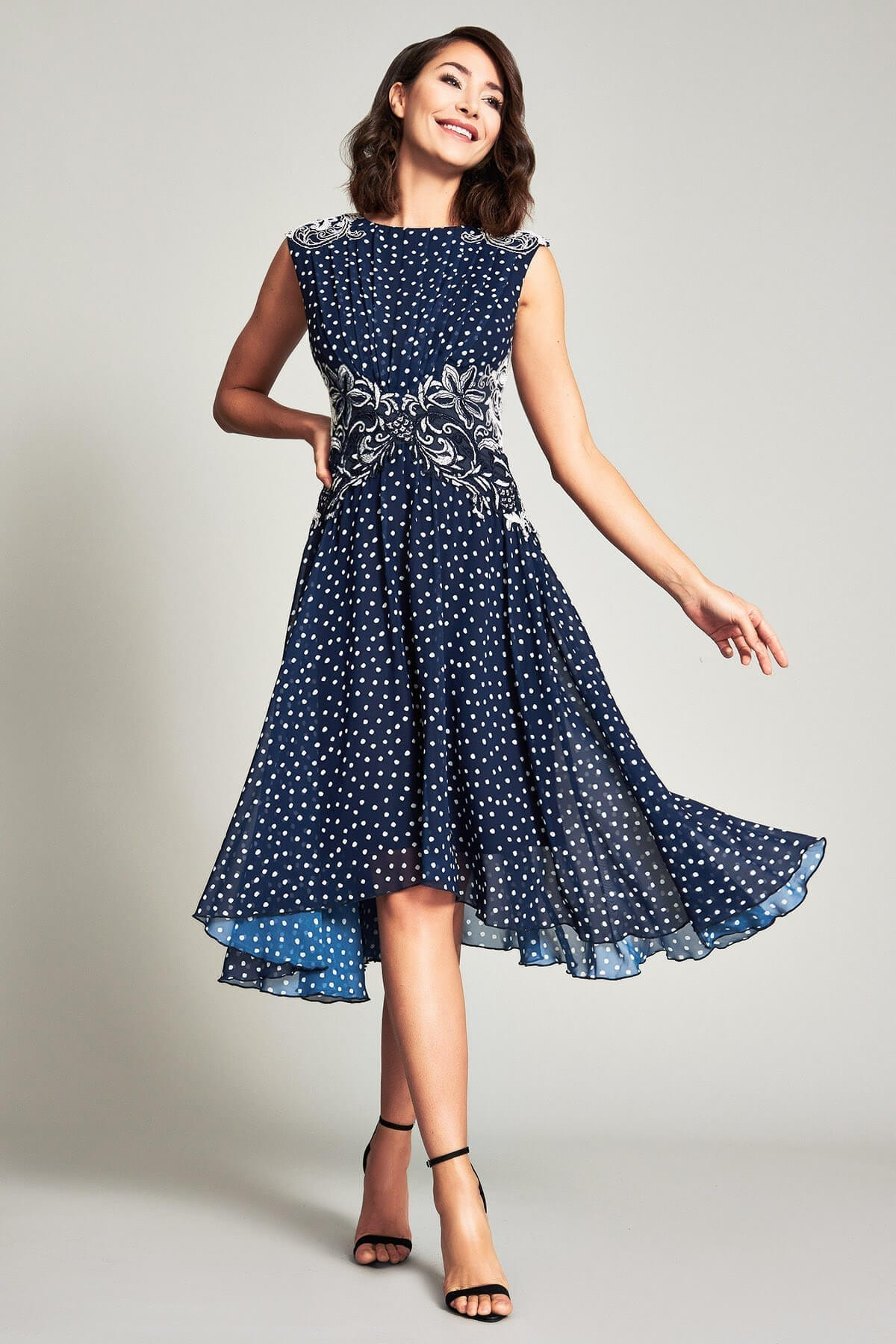 TADASHI SHOJI Maya Printed Georgette Dress