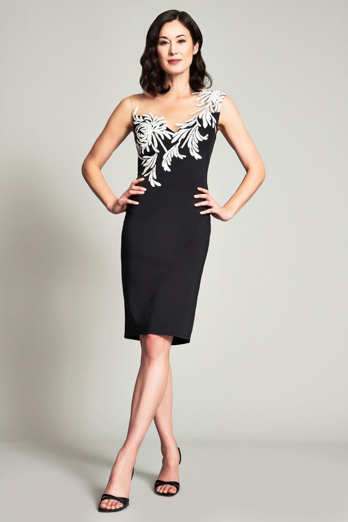 TADASHI SHOJI Zelter Asymmetric Floral Dress
