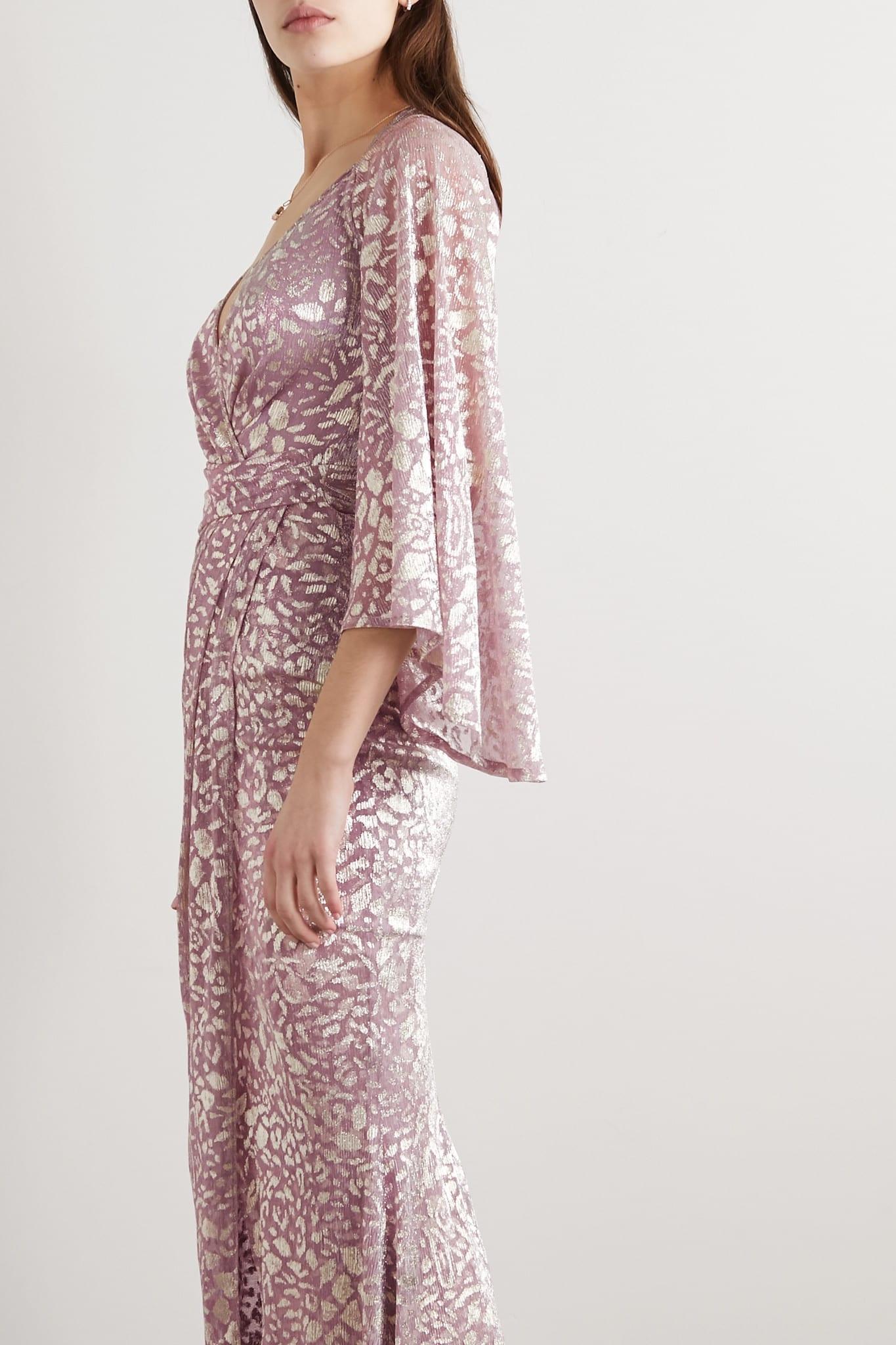 TALBOT RUNHOF Bologne Metallic Leopard-jacquard Voile Gown