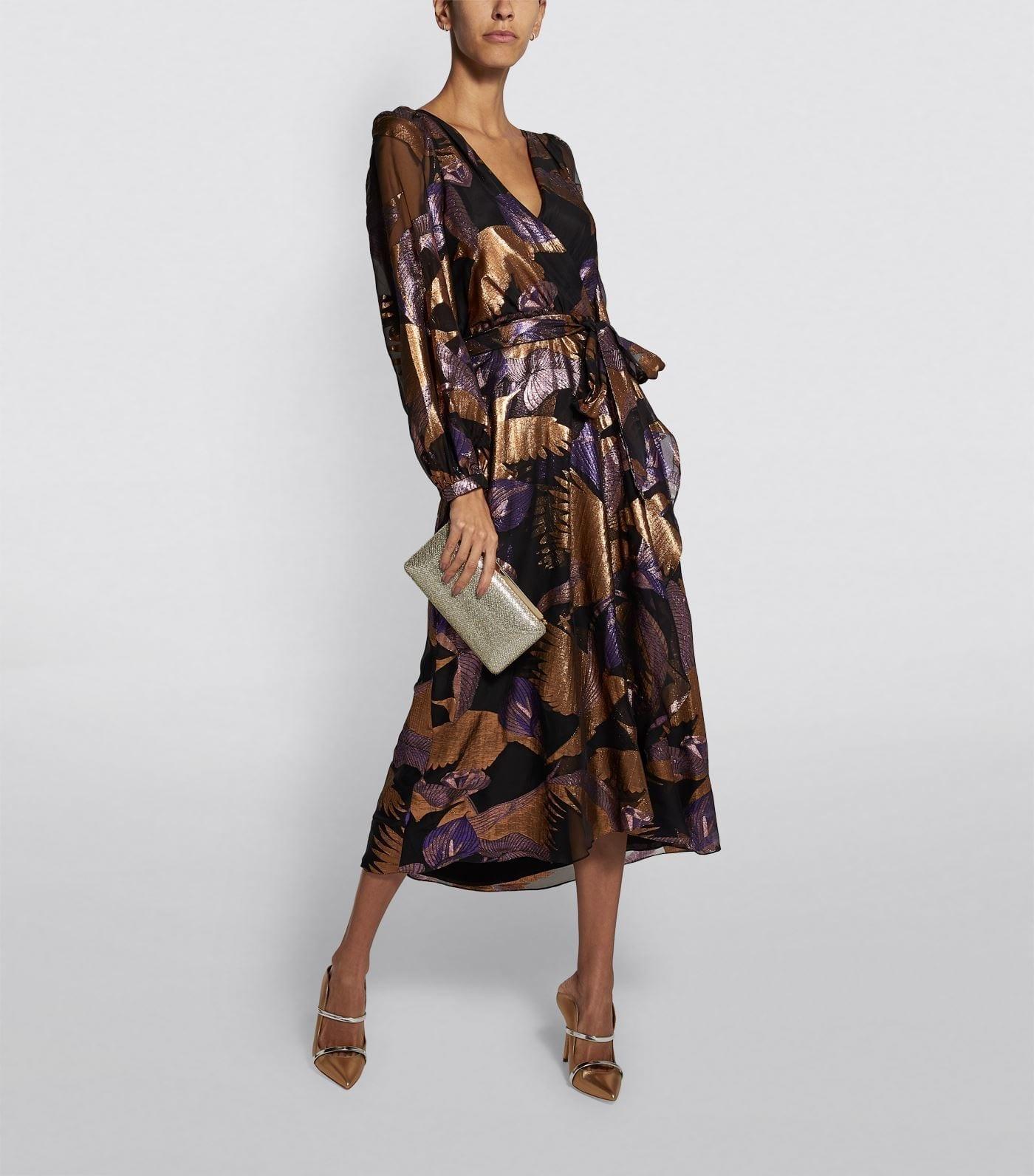 TEMPERLEY LONDON Kitty Fil Coupé Wrap Dress