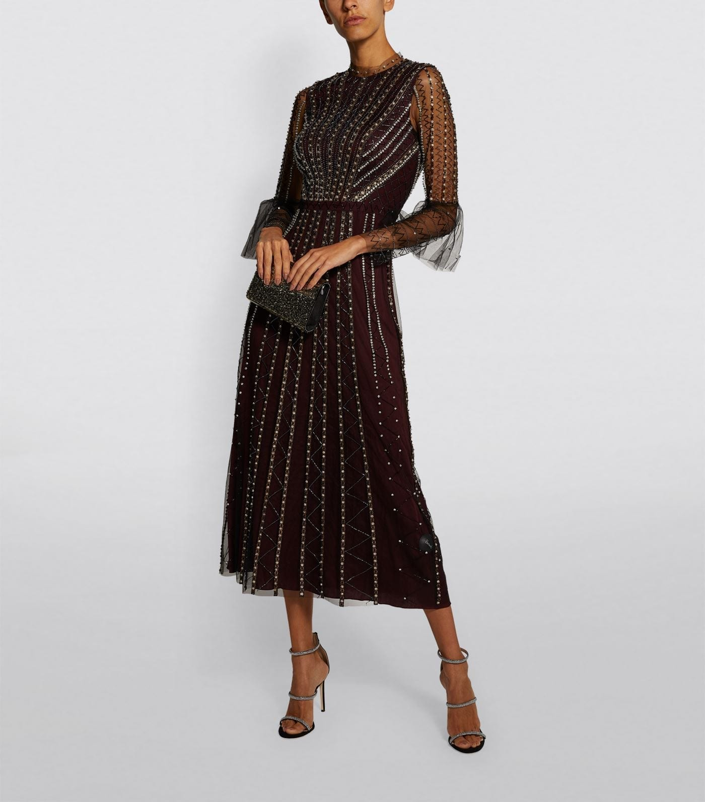 TEMPERLEY LONDON Queenie Embellished Midi Dress