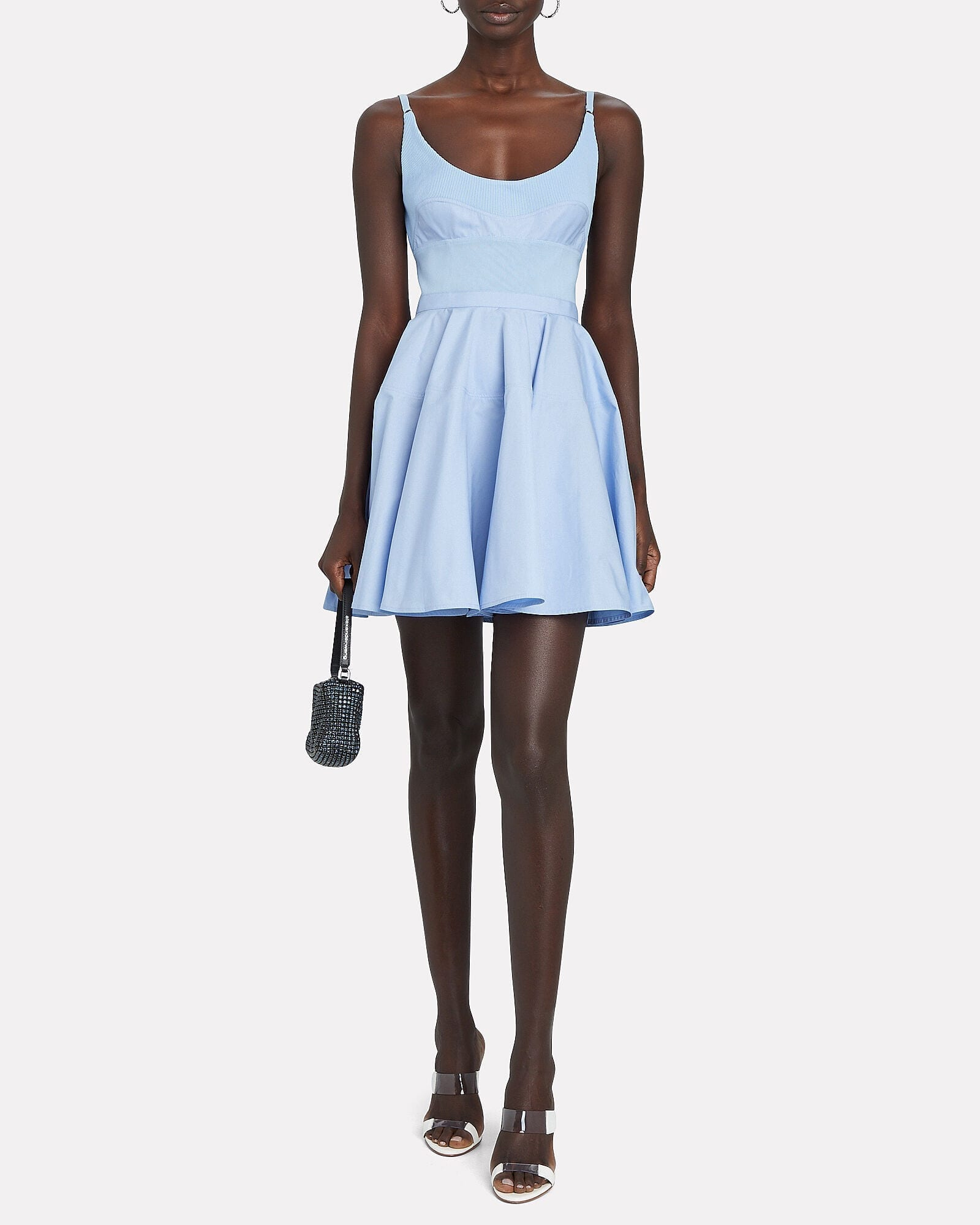 ALEXANDER WANG Poplin Fit-And-Flare Mini Dress