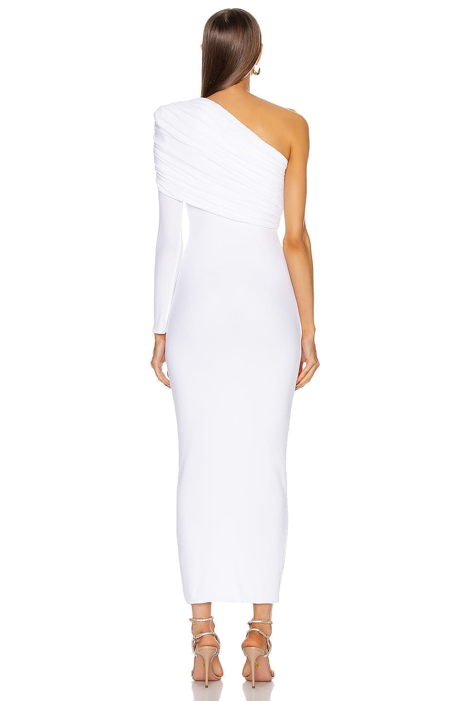 ALEXANDRE VAUTHIER Ruched One Shoulder Gown