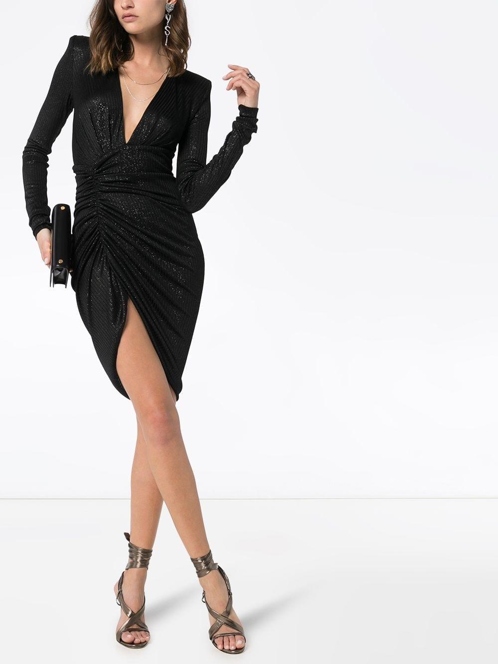 ALEXANDRE VAUTHIER Sparkled V-neck Mini Dress