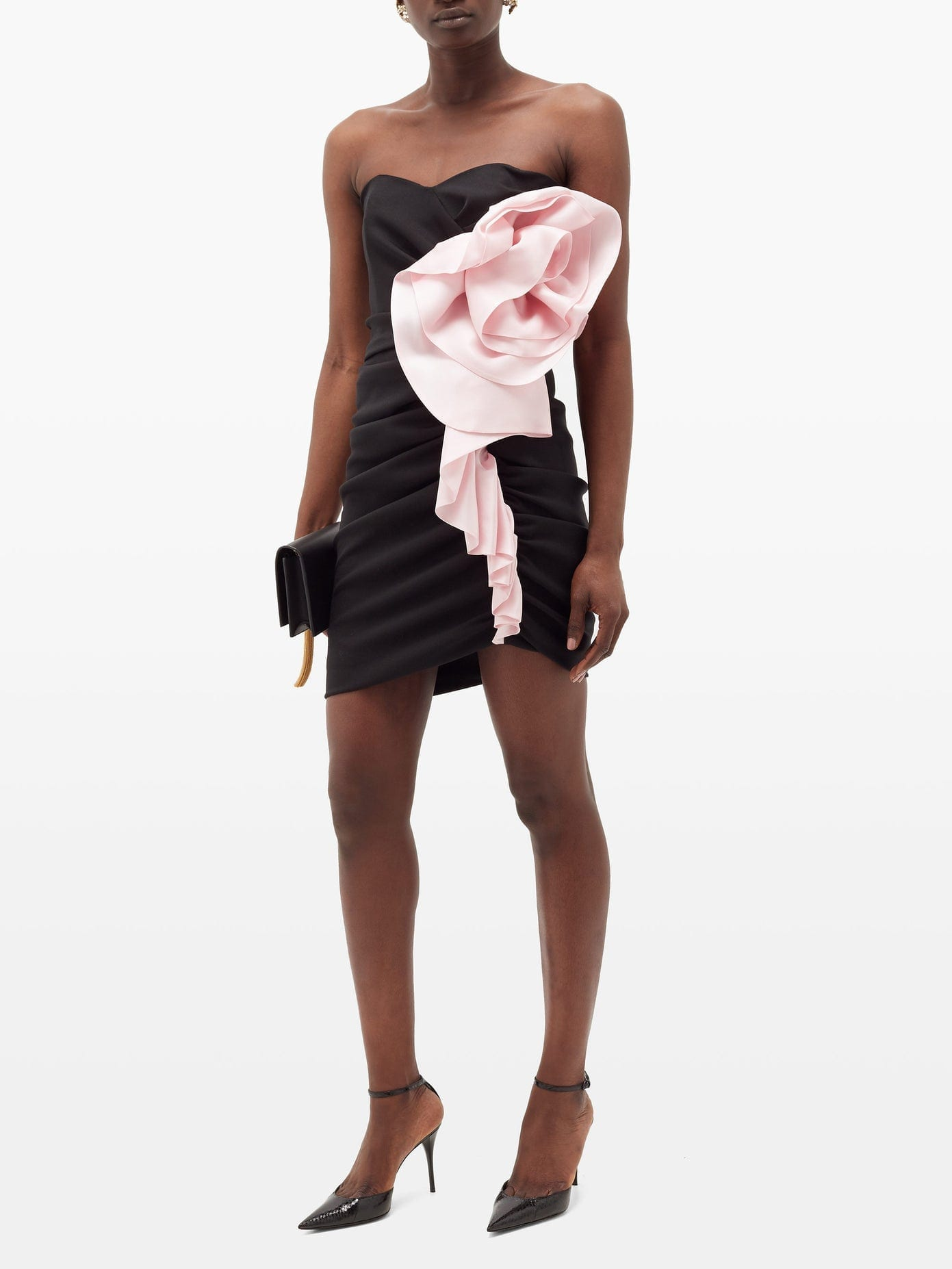 ALEXANDRE VAUTHIER Strapless Ruffled Crepe Mini Dress
