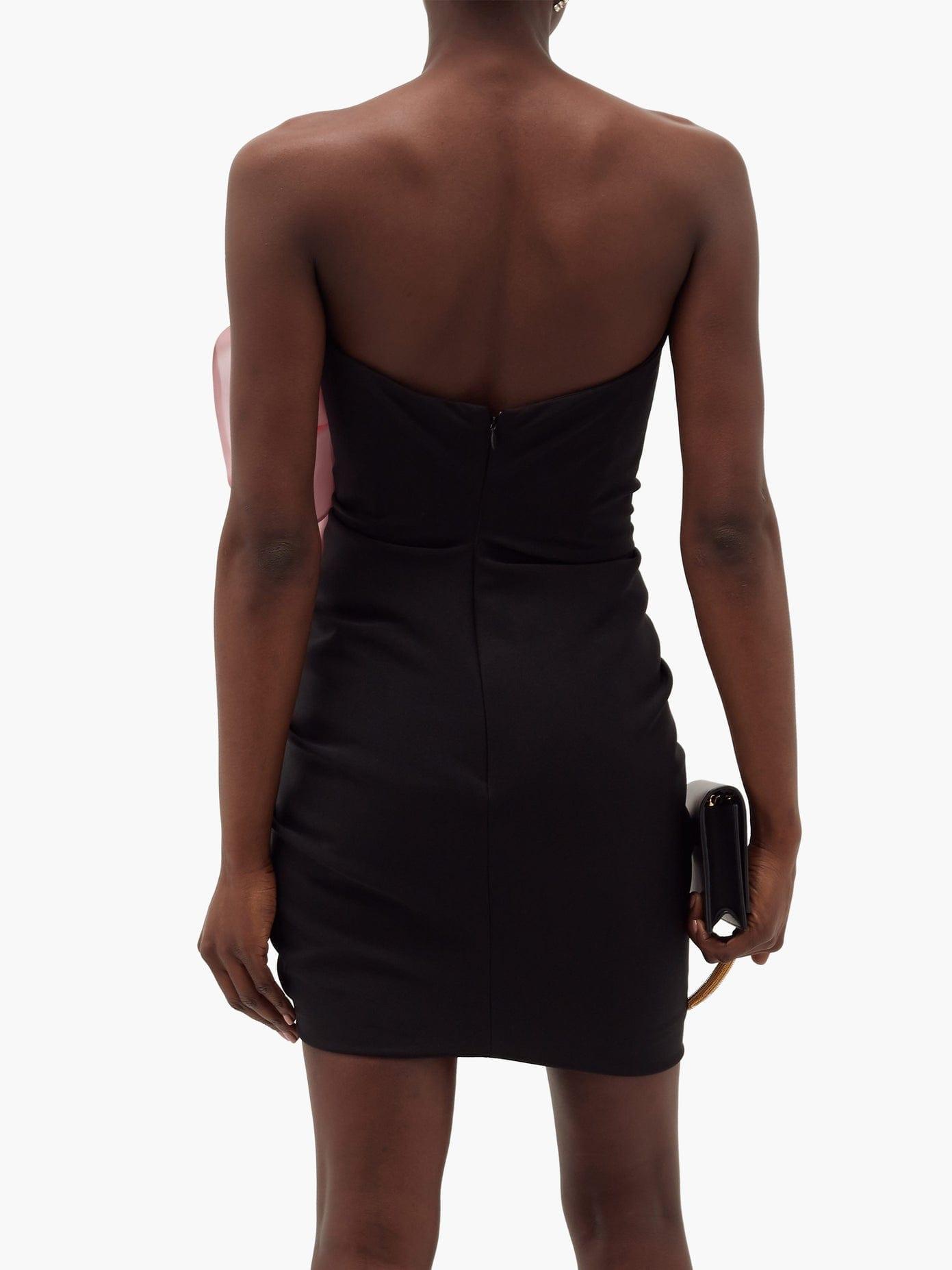 ALEXANDRE VAUTHIER Strapless Ruffled Crepe Mini Dress