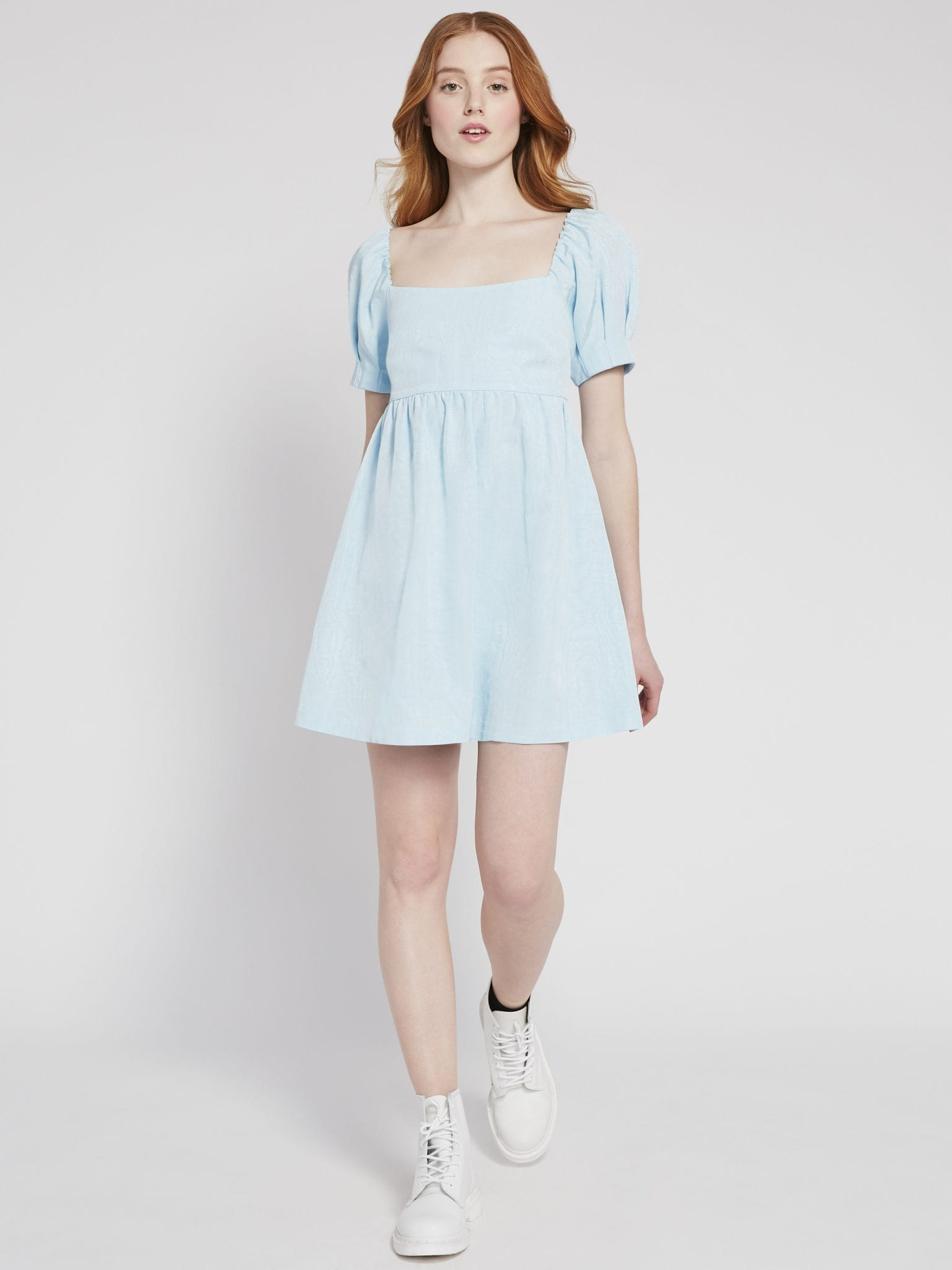 ALICE AND OLIVIA Bauery Puff Sleeve Mini Dress