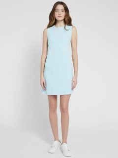 ALICE AND OLIVIA Coley Crew Neck A Line Mini Dress